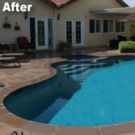 Swimming Pool Remodel After