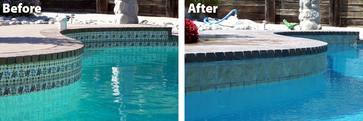 Swimming Pool Remode Before & After