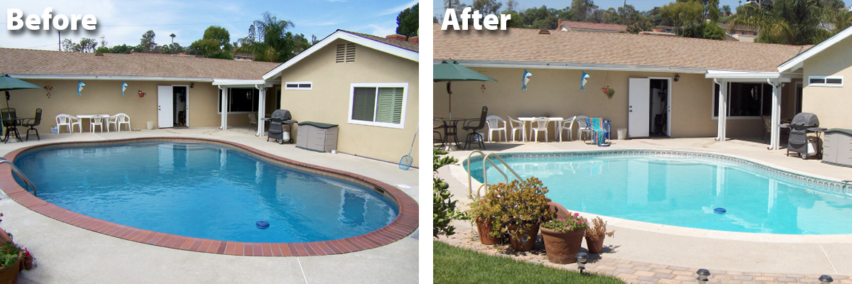Swimming Pool Remodel Before After