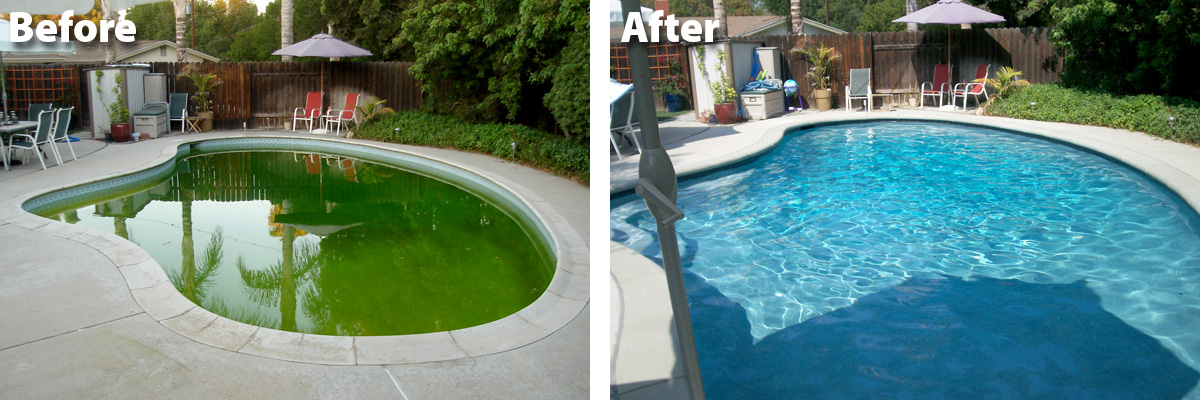 Swimming Pool Remodel Before & After
