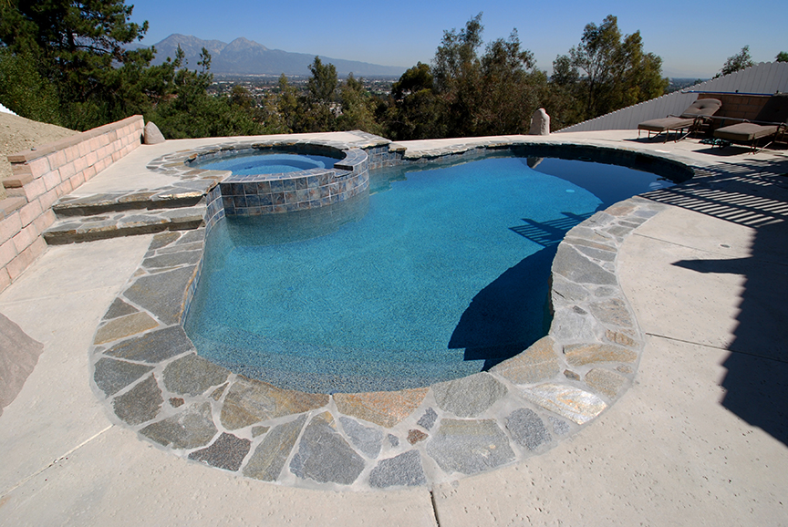 Flagstone Pool Coping Beautiful Pool Coping U Textured Concrete Deck With Flagstone Pool Coping